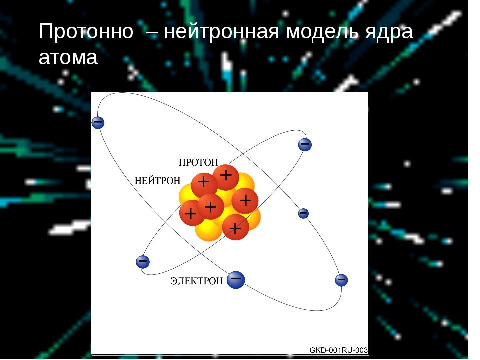 Протонно – нейтронная модель ядра атома