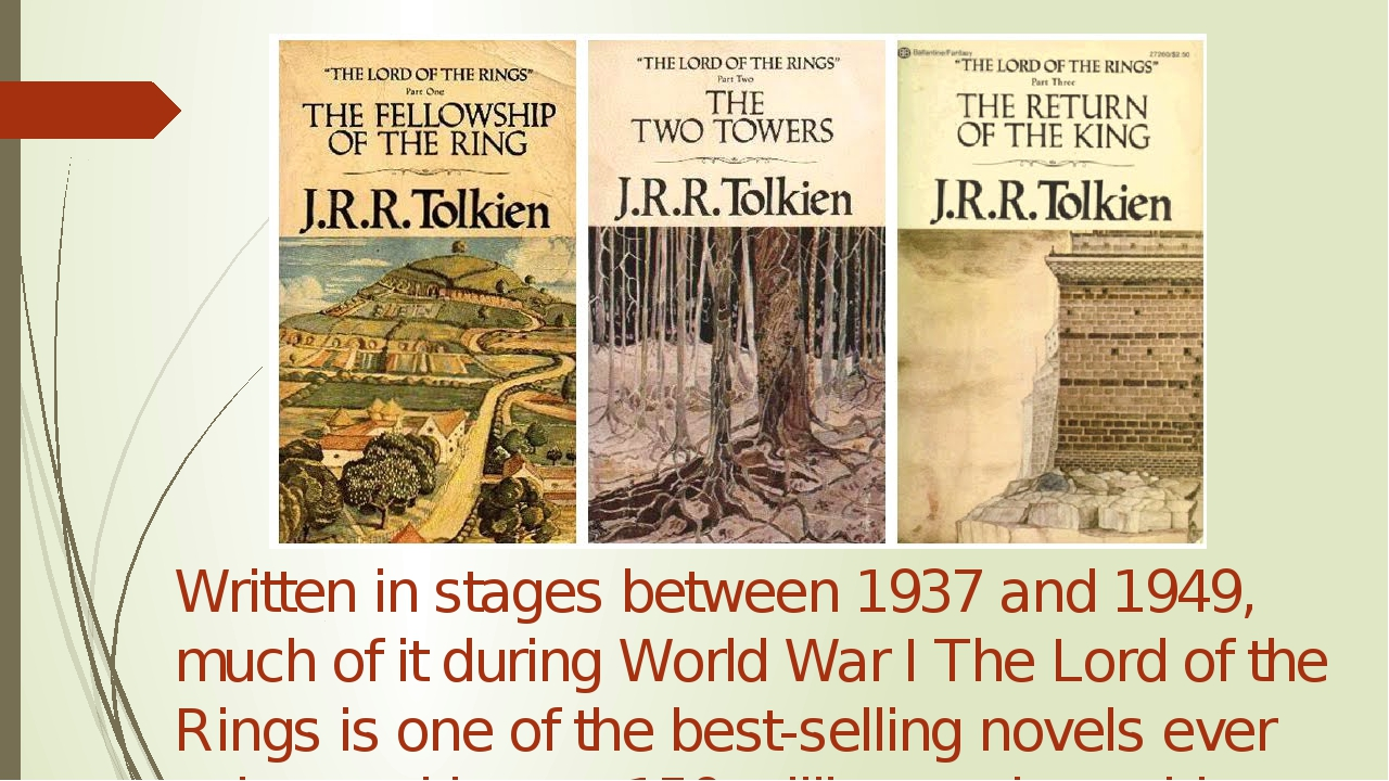 Written in stages between 1937 and 1949, much of it during World War I The L...