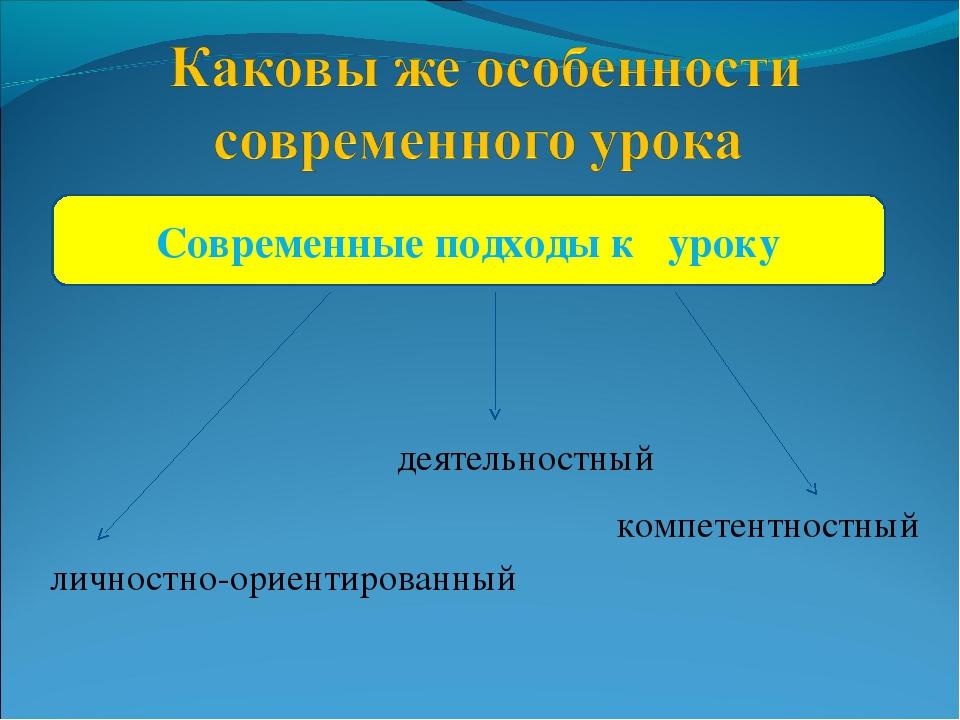 Современные подходы к уроку личностно-ориентированный деятельностный компетен...