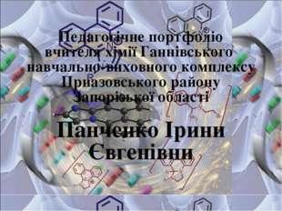 Педагогічне портфоліо вчителя хімії Ганнівського навчально-виховного комплекс