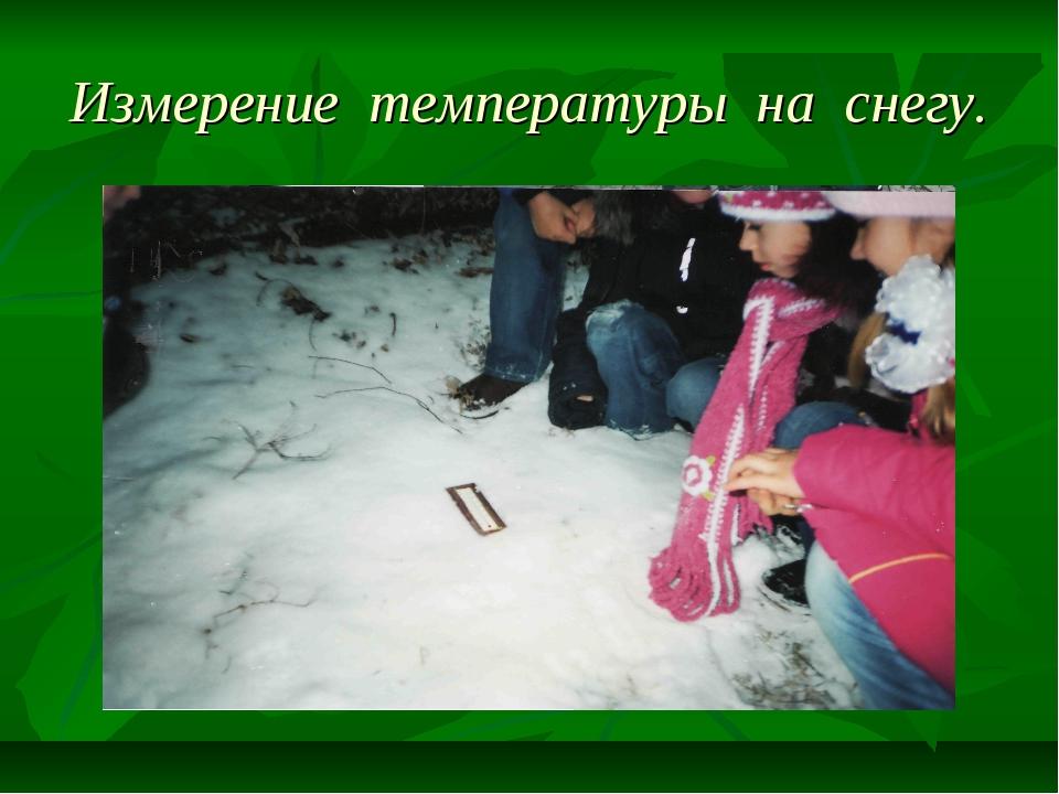 Измерение температуры на снегу.