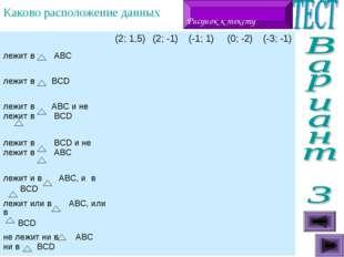 Каково расположение данных точек и треугольников ? Рисунок к тексту (2; 1,5)