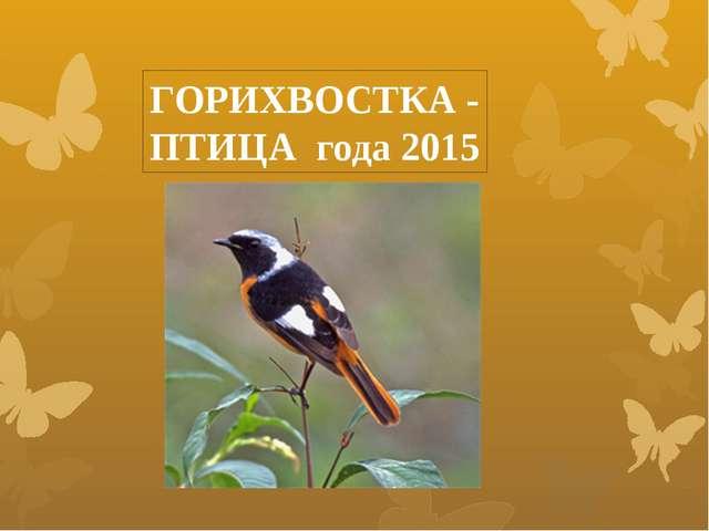 ГОРИХВОСТКА - ПТИЦА года 2015