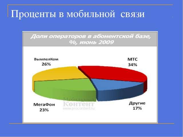 Проценты в мобильной связи