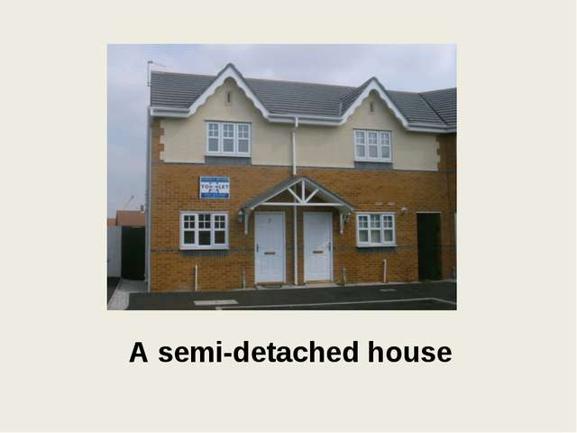 A semi-detached house