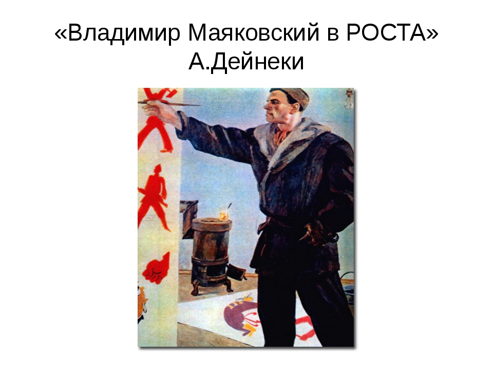 «Владимир Маяковский в РОСТА» А.Дейнеки