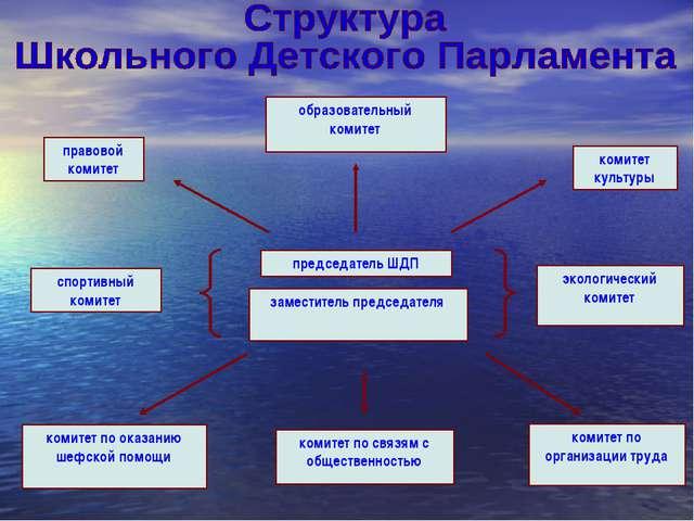 председатель ШДП заместитель председателя правовой комитет образовательный ко...
