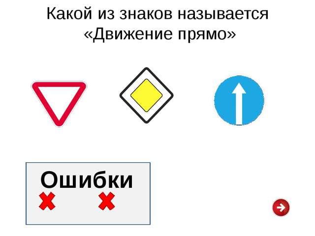Какой из знаков называется «Пешеходный переход» Ошибки