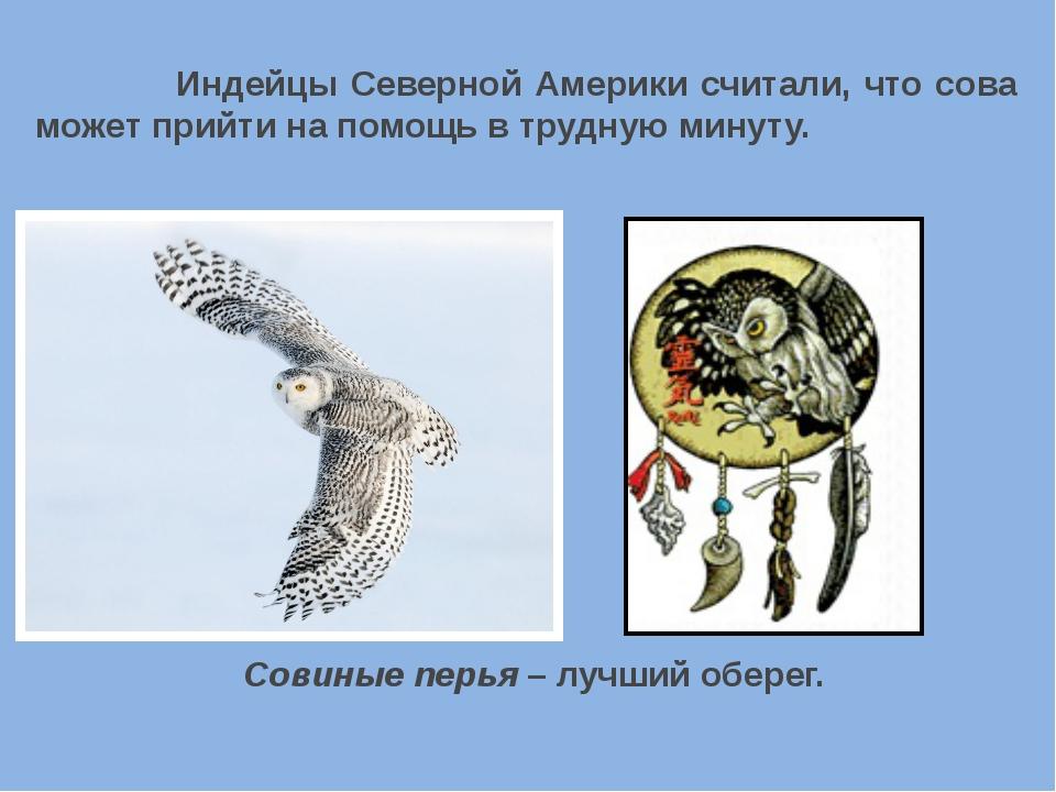 Индейцы Северной Америки считали, что сова может прийти на помощь в трудную...