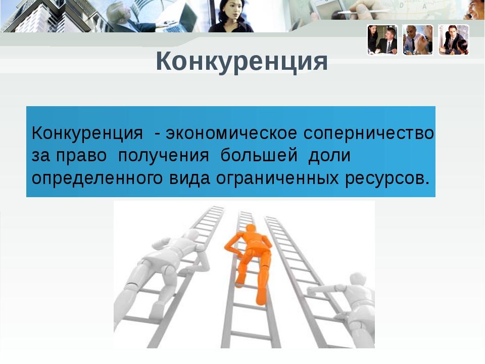 Description of the contents Конкуренция - экономическое соперничество за пра...
