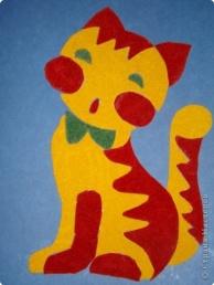 Аппликация - Кошечка из моего детства