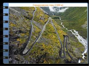 Скандинавские горы (2469 м) Какие горы Евразии расположены за пределами поясо