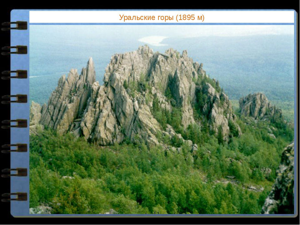 Уральские горы (1895 м) Какие горы Евразии расположены за пределами поясов мо...