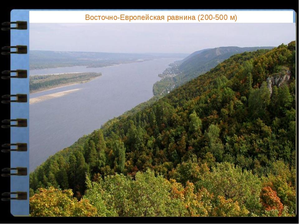 Восточно-Европейская равнина (200-500 м) Какие формы рельефа соответствуют ра...