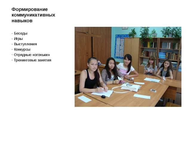 Формирование коммуникативных навыков - Беседы - Игры - Выступления - Конкурсы...