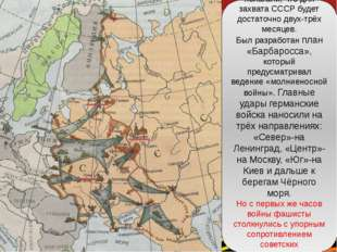Гитлер и его генералы полагали, что для захвата СССР будет достаточно двух-тр
