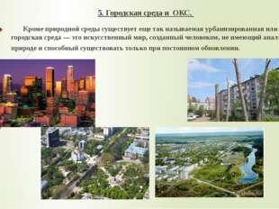 5. Городская среда и ОКС. Кроме природной среды существует еще так называемая
