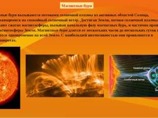 Магнитные бури вызываются потоками солнечной плазмы из активных областей Сол
