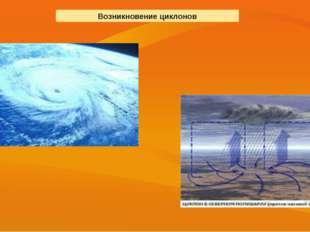 Возникновение циклонов
