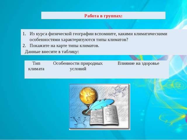 Из курса физической географии вспомните, какими климатическими особенностями...