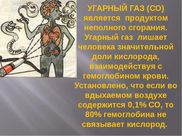 УГАРНЫЙ ГАЗ (СО) является продуктом неполного сгорания. Угарный газ лишает че...