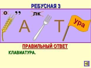РЕБУСНАЯ 3 ПРАВИЛЬНЫЙ ОТВЕТ КЛАВИАТУРА.