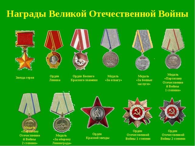 Медаль «Партизану Отечественной Войны 2 степени» Медаль «За отвагу» Орден Бое...