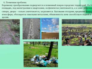 6. Почвенная проблема. Коренному преобразованию подвергается и почвенный пок
