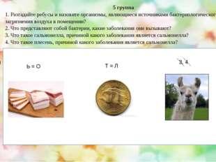 5 группа 1. Разгадайте ребусы и назовите организмы, являющиеся источниками б