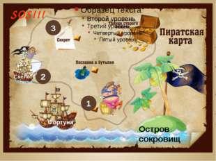 2 1 Фортуна SOS!!! Остров сокровищ 3 Скелет