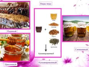 Виды меда Цветочный Падевый Смешанный Купажированный