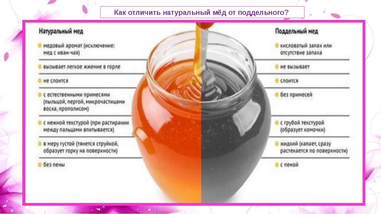 Как отличить мед натуральный или нет в домашних условиях