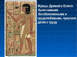 Жрецы Древнего Египта были самыми богобоязненными и трудолюбивыми, приучали д