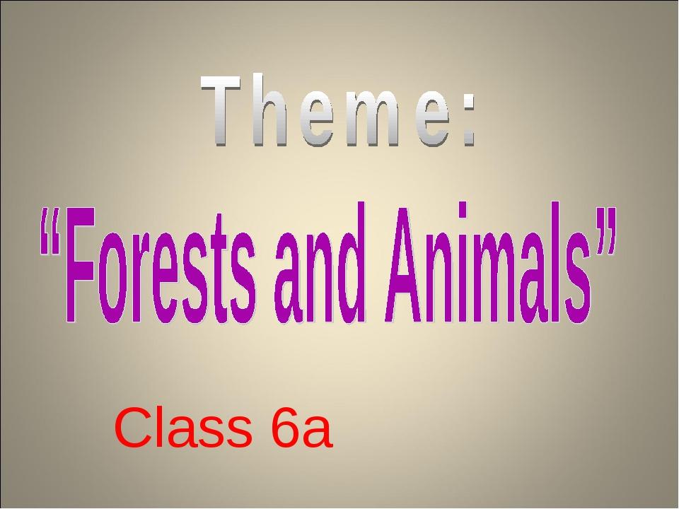 Class 6a