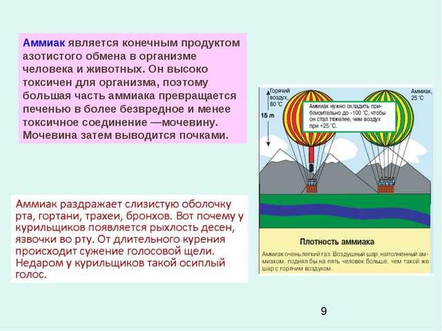 Аммиак является конечным продуктом азотистого обмена в организме человека и ж...