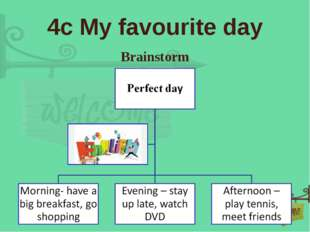 4c My favourite day Brainstorm
