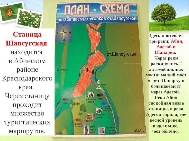 Станица Шапсугская находится в Абинском районе Краснодарского края. Через ст...