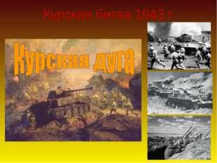 Курская битва 1943 г