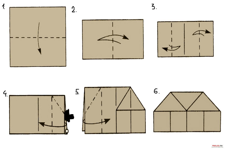 Как сделать из бумаги хижину