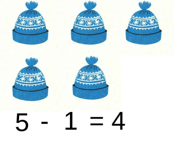 5 1 - = 4
