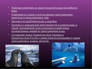 Рамочная конвенция по защите морской среды Каспийского моря. Конвенция по охр