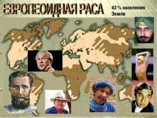 42 % населения Земли *