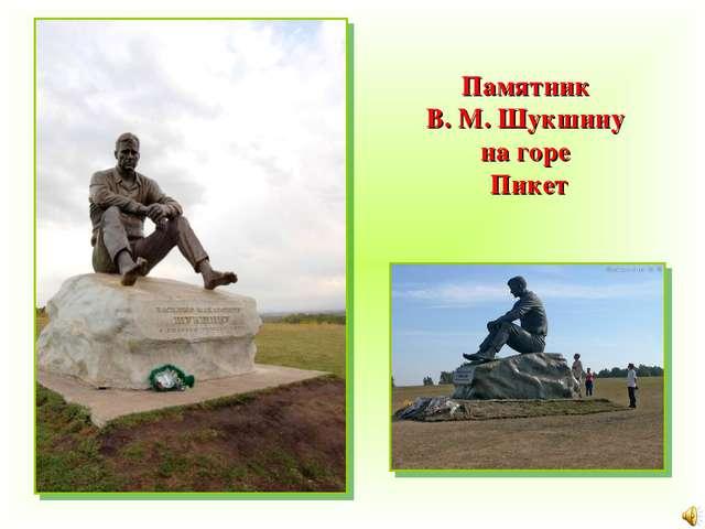 Памятник В. М. Шукшину на горе Пикет