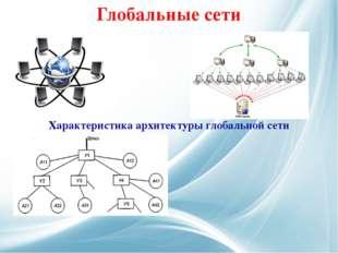 Глобальные сети Характеристика архитектуры глобальной сети