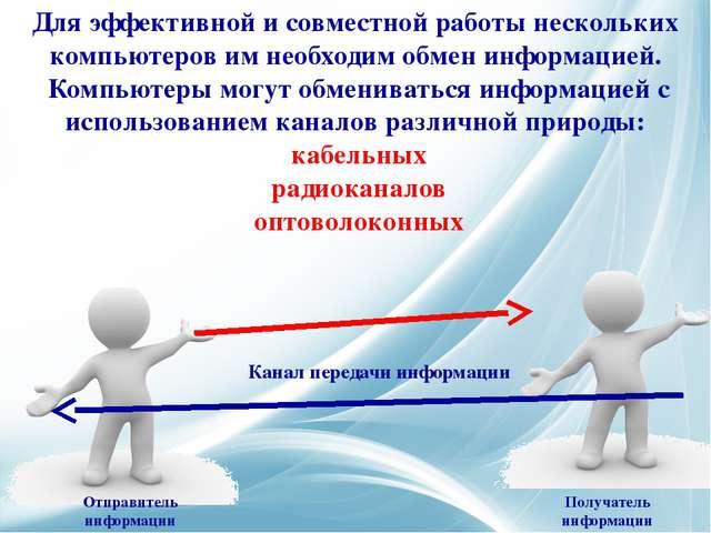Для эффективной и совместной работы нескольких компьютеров им необходим обмен...