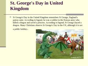 St. George's Day in United Kingdom St George's Day in the United Kingdom reme