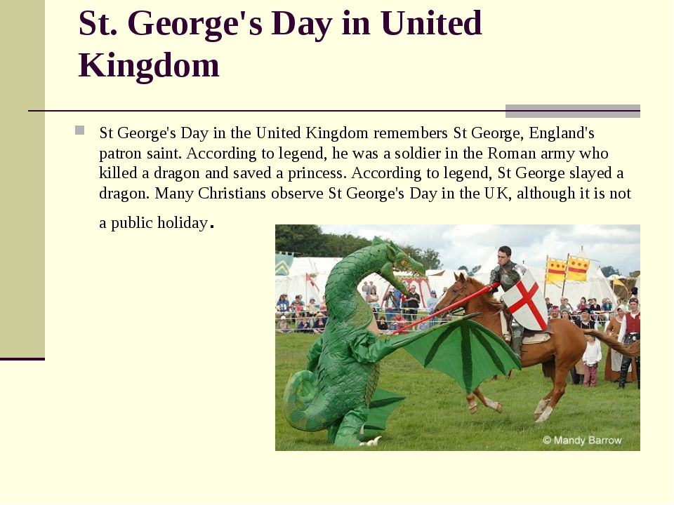 St. George's Day in United Kingdom St George's Day in the United Kingdom reme...
