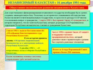 Блок контроля знаний. 1. Когда президиум ВС Казахстана издал указ о либерали
