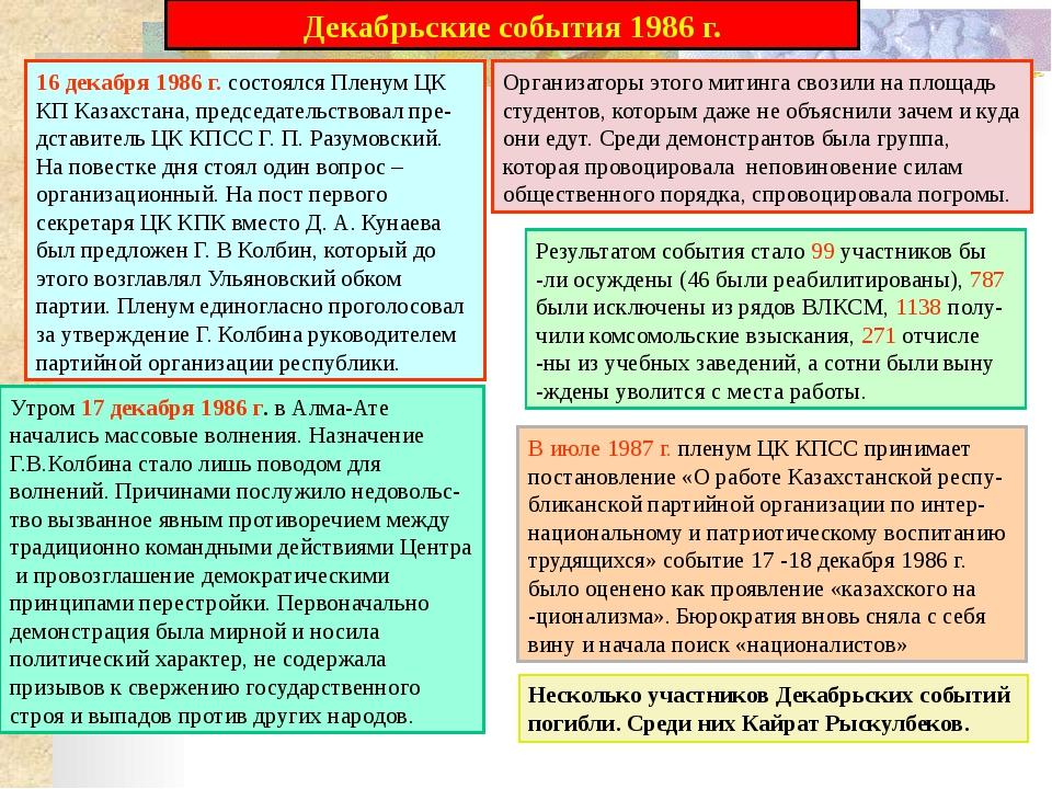 Политическое развитие в условиях суверенитета и провозглашение государственно...