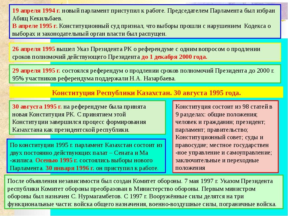 1. Сколько государств признали независимость Казахстана с момента его образо...